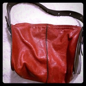 Hogan Leather two toned bag!